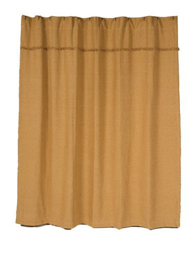Burlap Natural Shower Curtain Unlined 72x72""