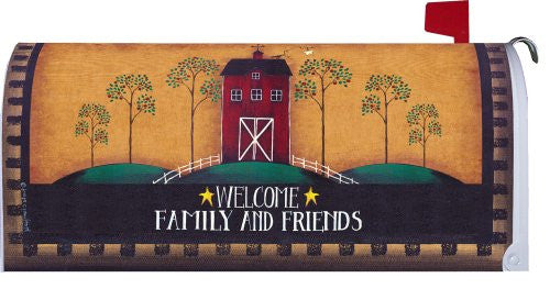 """ Welcome Barn "" - Decorative Mailbox Makeover - Rural Size Mailbox Magnetic Cover"