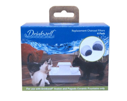 Drinkwell Ceramic Charcoal Filters 4 pack