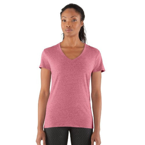 Women's Charged Cotton® Undeniable T-Shirt Tops by Under Armour (Color: Hibiscus/Fury Size:)
