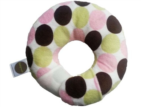 Babymoon Pillow - For Flat Head Syndrome & Neck Support (Mocha Pink Cuddle)