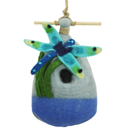 Big Dragonfly Felt Birdhouse
