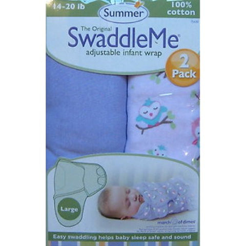 Summer Infant 2 Count Swaddleme Blanket - Large