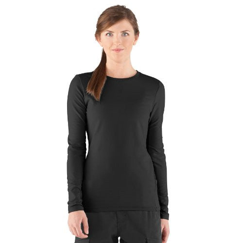 Tac Women's Coldgear Crew - Black, Large