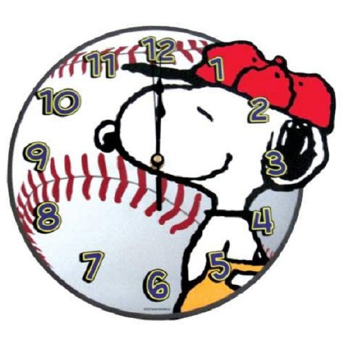 Peanuts Snoopy Baseball Wall Clock (10 1/2-inch)