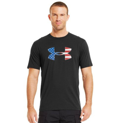 Big Flag Logo T - Black, Large