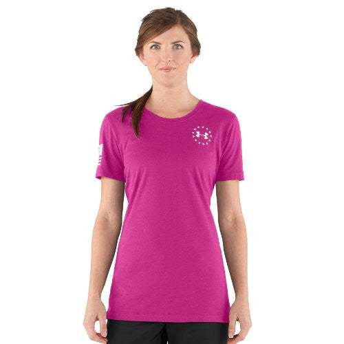 WWP Women's Freedom Flag Tee - Pink Essence, Small