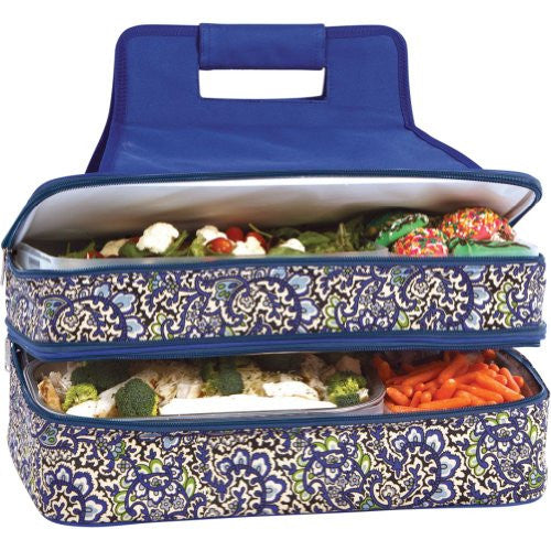 Entertainer Hot & Cold Food Carrier (Color: English Paisley)