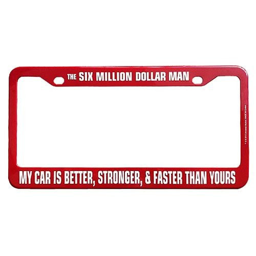 The Six Million Dollar Man License Plate Frame (12.25 Inch)