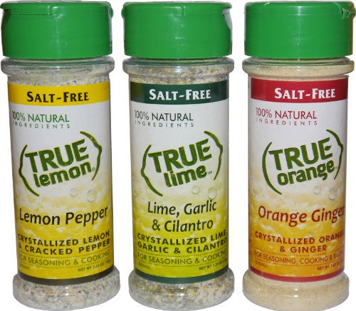 1 True Lemon Pepper, 1 True Lime Garlic Cilantro, 1 True Orange Ginger ORDER 1 OF EACH GIVEN ITEM NUMBER TO MATCH AMAZON LISTING