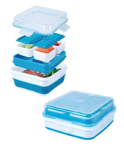 Cool Gear Ez-freeze® Collapsible Bento Box (Color: Assorted)