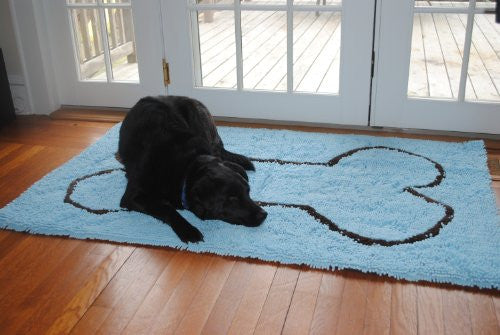 XL Doormat - Blue/Brown Bone