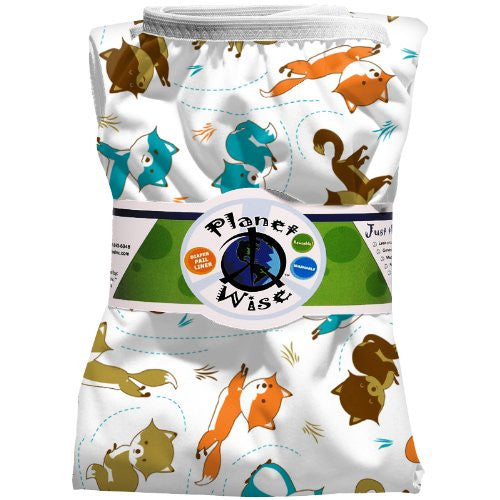 Planet Wise Diaper Pail Liner (Color: Fox Trot)