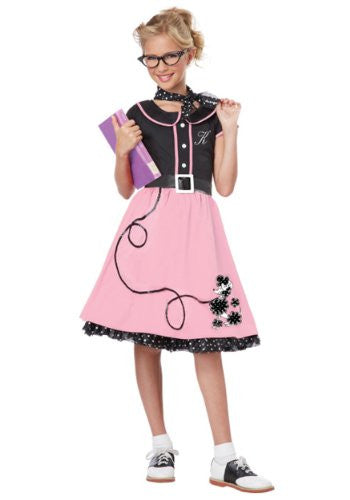 50's Sweetheart/Child - Black/Pink (S 6-8)