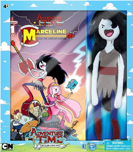 Adventure Time Deluxe 11.5-Inch Marceline Plush Comic Book Pack