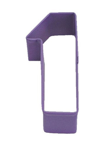 "Number ""1"" Purple Polyresin Cookie Cutter"