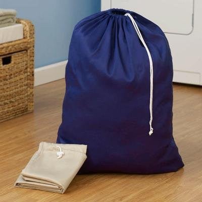 Household Essentials 120-1 Extra Large Heavy Duty Poly Cotton Blend Laundry Bag Assorted Colors