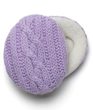 Earbags Cable Knit with Thinsulate,Lilac Medium