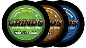 Grinds Coffee Pouches - Mocha, Mint Chocolate & Cinnamon Roll Sampler Pack