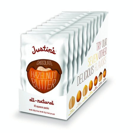 Justins Nut Butter Chocolate Hazelnut Squeeze Packet 1.15 OZ