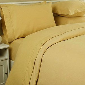 1200 Thread Count QUEEN Size 4pc Egyptian Bed Sheet Set, Deep Pocket, Camel Gold