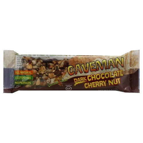 Caveman Dark Chocolate Cherry & Nut Bar 1.4 OZ