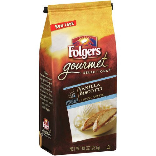 Folgers® Gourmet Selections Vanilla Biscotti Ground Coffee 10 oz. Bag