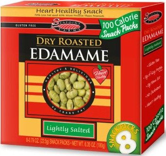 Dry Roasted Edamame, Lightly Salted 6.35 oz (Pack of 12)