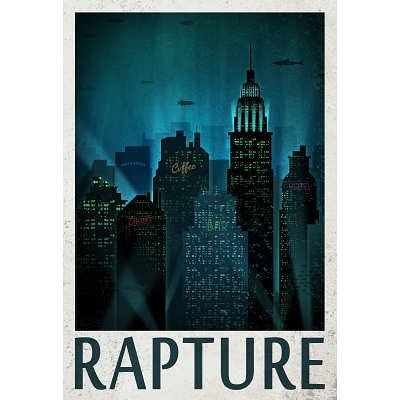 Rapture Retro Travel Poster - 13x19
