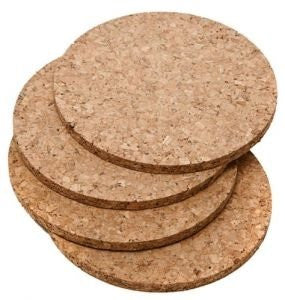 Cork Coaster, Round, Set of 4