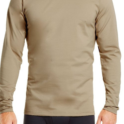 UA Coldgear Infrared Tactical Fitted Mock - Desert Sand, Small