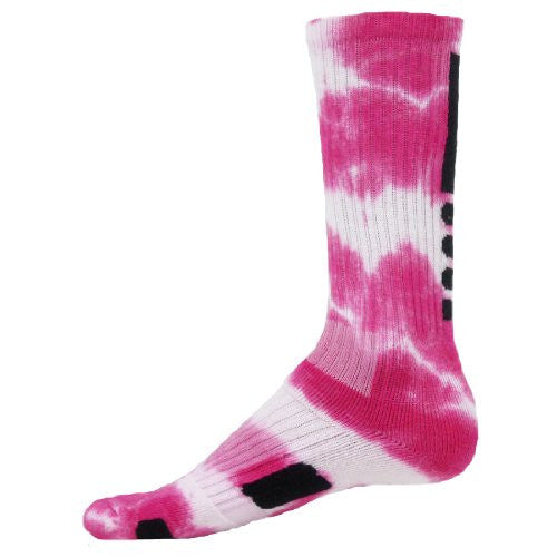 Max, Medium, Neon Pink Tie Dye/White