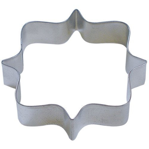 "Square Plaque 4.25"" Tinplated Cookie Cutter"