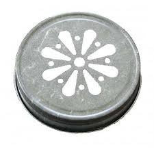 Pewter Daisy Jelly Lid for Mason Jars