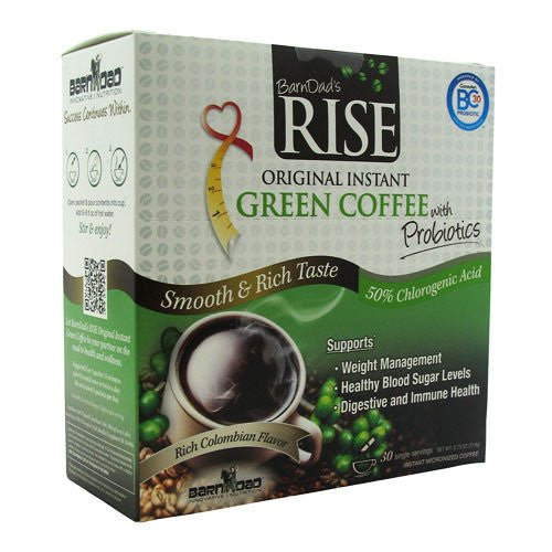 Barndad Rise Green Coffee With Probiotics - 30 Single-Servings
