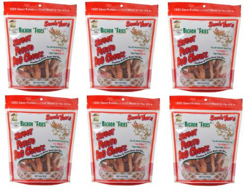 Front Porch Pets® Bichon Fries® - Sweet Potato Dog ChewzTM, 6 Pack