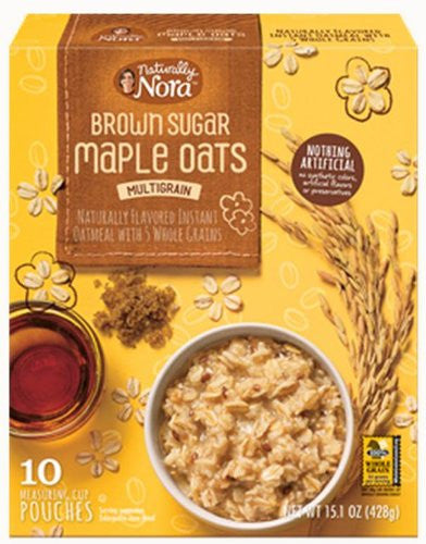 Naturally Nora Hot Cereal Brown Sugar Maple, 10 pack