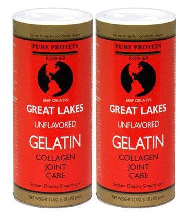 Great Lakes Unflavored Gelatin, Kosher, 16-Ounce Can (Single) (Size: 2 lbs)