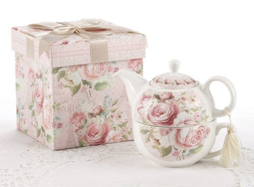 "5.8"" Pr'L Tea For One In Gift Box, Rose"