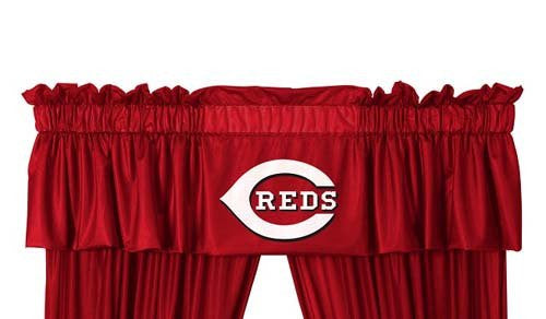 VALANCE Cincinnati Reds - Color Bright Red - Size 88x14