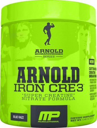 Arnold By Musclepharm Iron Cre3 Blue Razz
