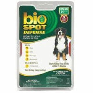 Bio Spot Defense Flea & Tick Spot on for Dogs, 6 Months, Over 80 Pounds