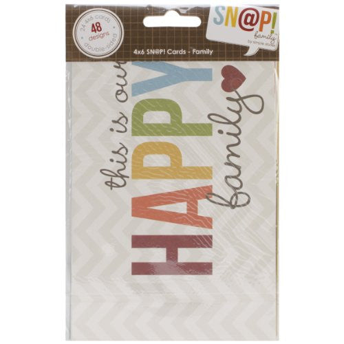 "Sn@p! Double-Sided Card Pack 4""X6"" 24/Pkg - Family"