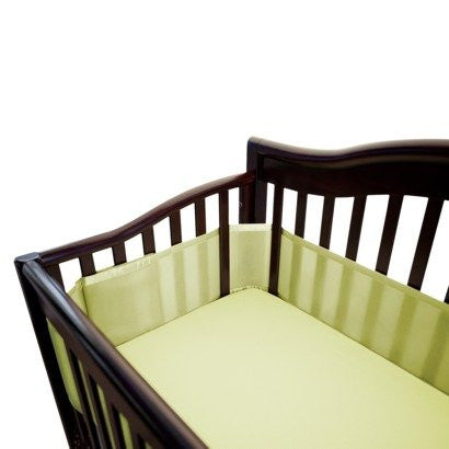 Breathable Mesh Crib Liner - Soft Lime