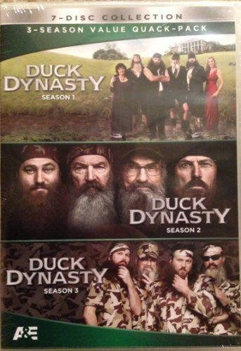 Duck Dynasty, Seasons 1, 2, and 3, one two, three DVD Value Quack-Pack New