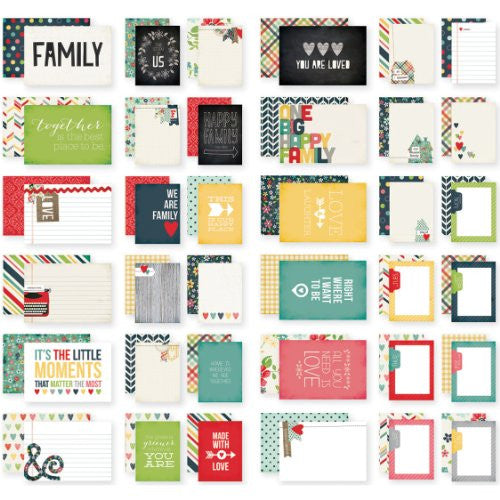 "Homespun Double-Sided Card Pack 4""X6"" 24/Sheets - Sn@p!"
