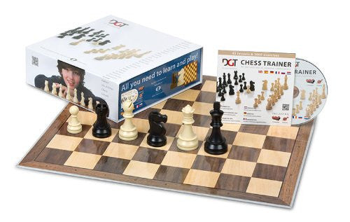 DGT Chess Box Blue (Pieces + Board +Chess Trainer CD)