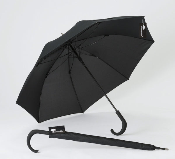 The Unbreakable® Walking-Stick Umbrella, Standard Model U-115 (fiberglass ribs)
