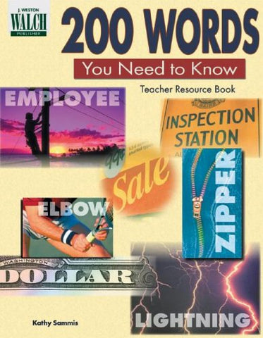 200 WORDS YOU NEED TO KNOW BOOK (paperback)