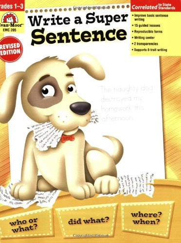 Write a Super Sentence, Grades 1-3 - Teacher Resource Book